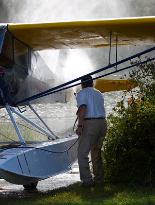 hosing down a taylorcraft