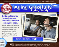 Aging gracefully, flying safely