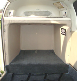 Bonanza baggage compartment