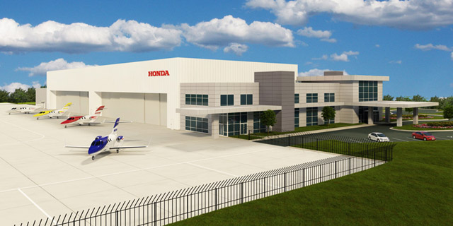 Rendering Of The MRO Facility Being Built At Honda Aircraft Co Headquarters In Greensboro NC Image Courtesy