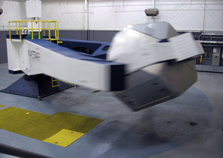 The Phoenix Centrifuge can deliver a 10-G acceleration in one second, and up to 25 Gs at full speed. Used to simulate both aircraft and space flight, it is typically dialed down to 4 Gs or less.