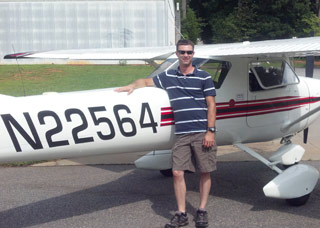 Plymate scholarship winner earns private pilot certificate.