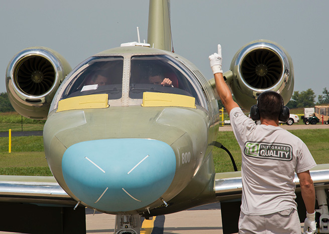 Powered by Williams FJ44 turbofans, the Citation M2 can cruise at 400 knots. Cessna Aircraft Co. photo