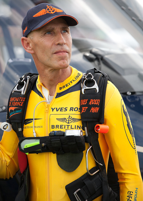 Yves Rossy. Photo courtesy Breitling