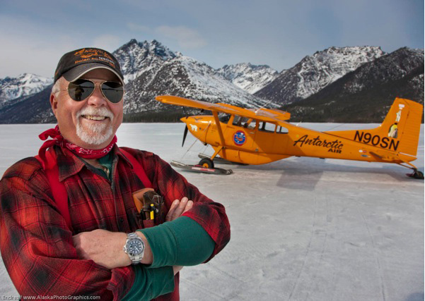 Art Mortvedt operates a wilderness lodge in Alaska, and has flowin his Polar Pumpkin over both poles. Photo by Patrick J. Endres, courtesy Art Mortvedt.