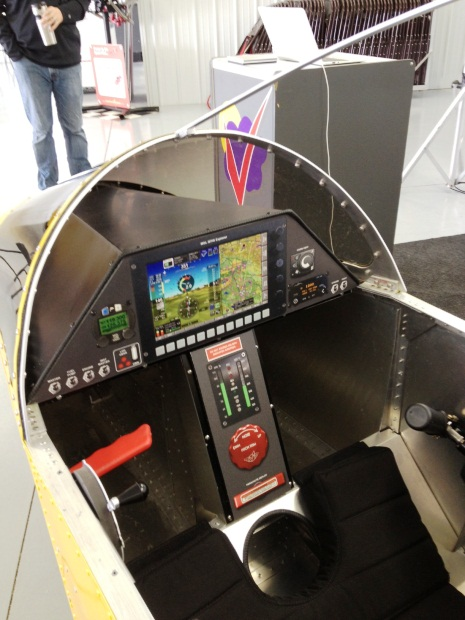 The cockpit mockup of the SubSonex JSX-2 was on display at Sonex headquarters during EAA AirVenture.