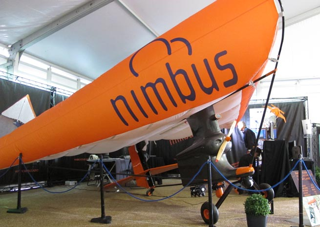 The Nimbus EOS XI has qualities of an airplane, hang glider, and airship.