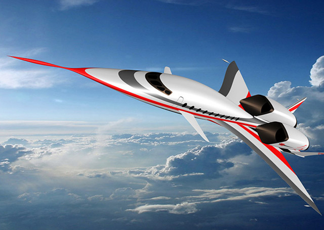 Artist's rendering of the SonicStar business jet concept. Image courtesy HyperMach Aerospace Industries.