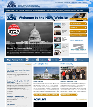 New AOPA website