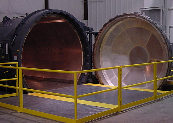 Cirrus had to build a home for this 40-ton autoclave oven. Photo courtesy Cirrus Aircraft.