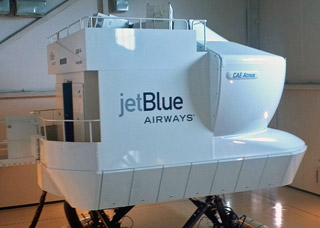 At JetBlue University, participants can fly the Airbus A320 simulator.
