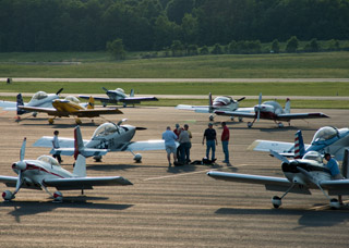 About 45 airplanes (all of them RVs) came to Stanly County Airport in Albemarle, N.C., for the FFI Formation Clinic.