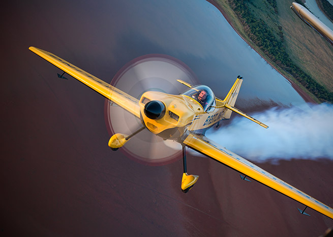 Breitling pilot David Martin is a member of the U.S. Unlimited Aerobatic Team competing in the world championships. Photo courtesy of Breitling