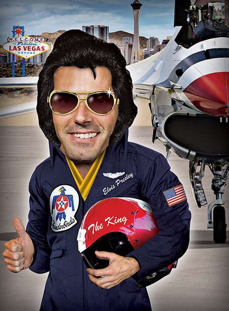 Elvis may not get a chance to fly an F-16, after all.