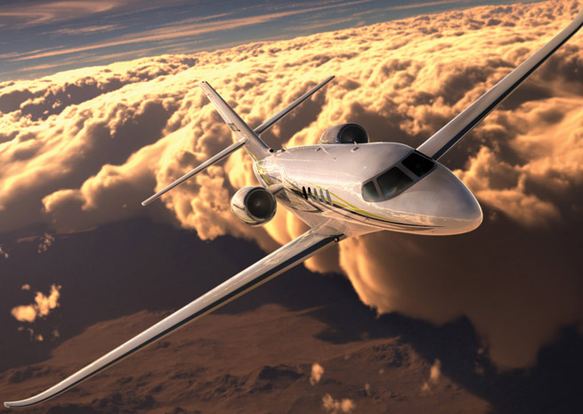 The Citation Latitude mid-size business jet is on schedule for its first prototype flight in the first quarter of 2014.