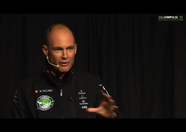 Solar impulse president, pilot, and co-founder Bertrand Piccard.