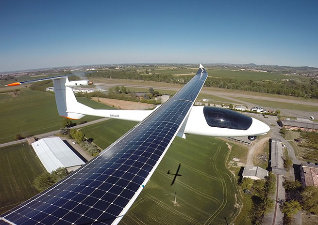 Solar Flight announced April 22 the first test flights of the Sunseeker Duo two-seat prototype. Photo courtesy of Solar Flight.