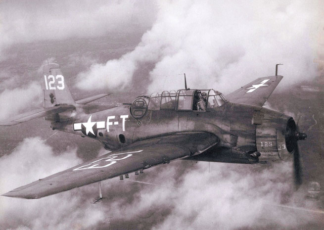A TBM Avenger. Photo courtesy of Naval Air Station Fort Lauderdale Museum.