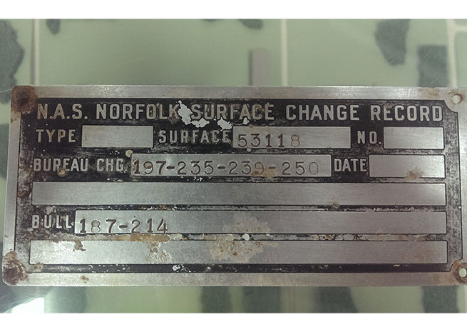 The data plate that unlocked the Everglades mystery. Photo courtesy of Andy Marocco\AeroQuest.org