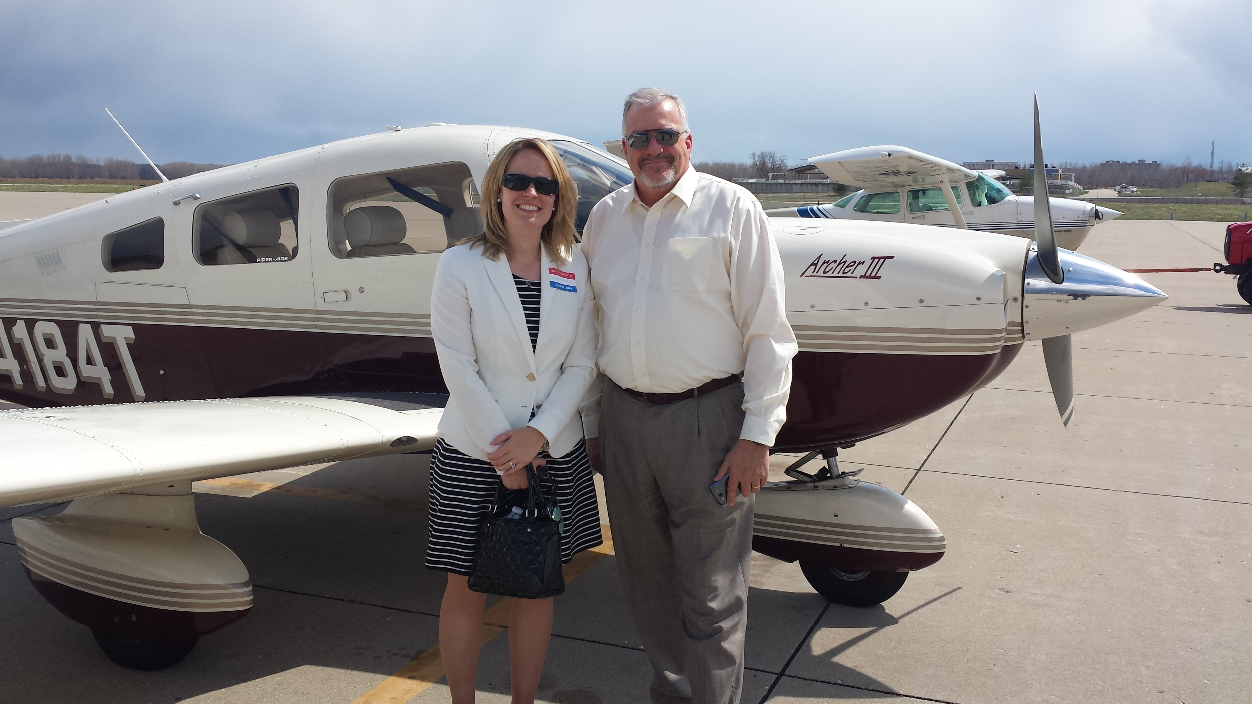 AOPA Central Southwest Regional Manager Yasmina Platt and Missouri State Rep. Doug Funderburk.