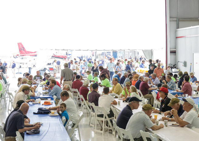 The pancake breakfast was a hit at AOPA's San Marcos Fly-In on April 26, and Indianapolis-area EAA chapters are gearing up to make the breakfast at the May 31 fly-in a success.