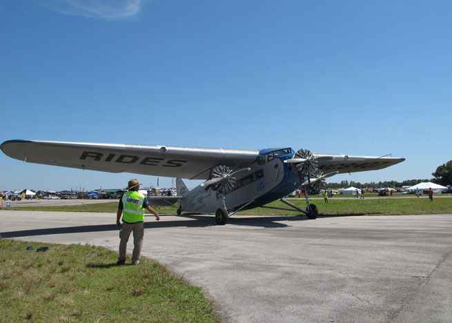 EAA offers flights in its Ford Tri-Motor for $75 for adults at Sun 'n Fun.