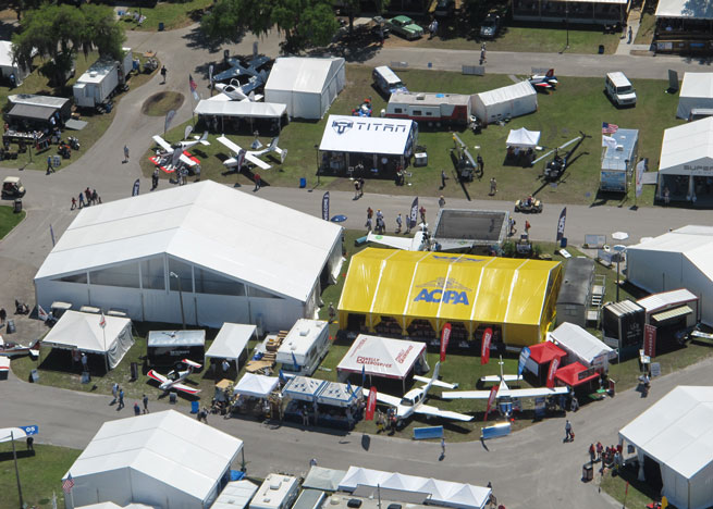 AOPA expanded its campus and moved to a new location for Sun 'n Fun 2014.