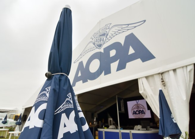 AOPA tent is ready for visitors.