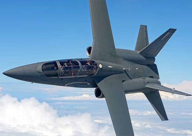 The Scorpion, photographed shortly after its first transatlantic crossing in July. Textron AirLand photo.