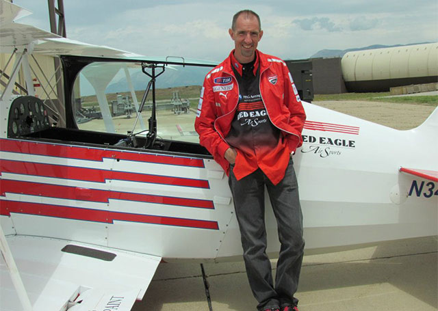Billy Werth and his modified Christen Eagle prior to the Aug. 10 forced landing. Photo courtesy of Billy Werth.