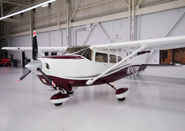 A Cessna 206 Stationair owned by the Textron Aviation Employees' Flying Club.