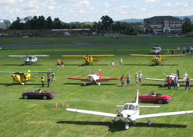 Aircraft and autos at Braden Airpark's Biggest Little Fly-In.