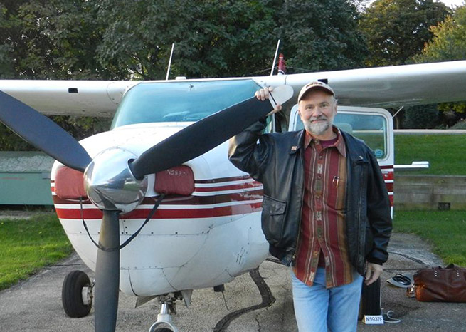 Keith Baird and his Cessna. Photo courtesy of Keith Baird.