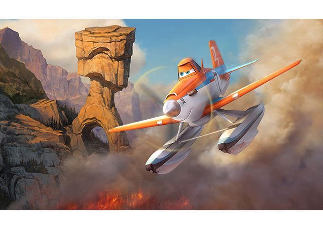 "Dusty has a new career in ""Planes: Fire and Rescue."" Image courtesy of Disney."