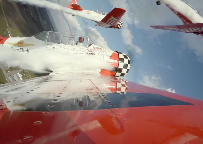 View from an AeroShell T-6 on  iflytheshow.com.