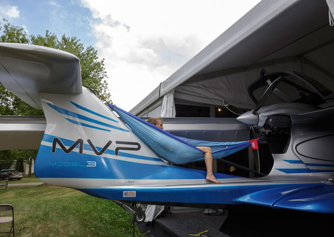 MVP Aero shows off its design at EAA AirVenture.