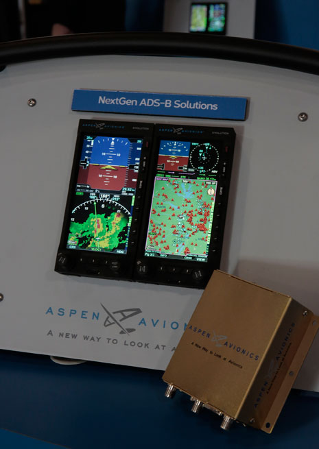 Aspen Avionics has expanded its product line to help owners comply with the FAA mandate for installation of Automatic Dependent Surveillance-Broadcast capability on aircraft by 2020.