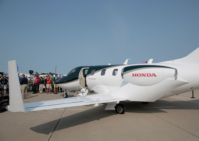 The first production HondaJet