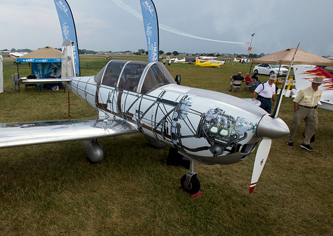 The SAM LS at AirVenture, exposed, at least in paint.
