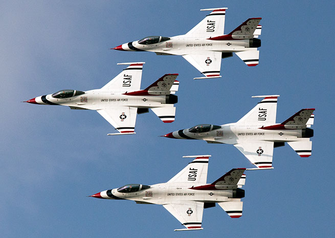 The U.S. Air Force Thunderbirds helped boost Saturday attendance at AirVenture by 20 percent over 2013, EAA officials said.