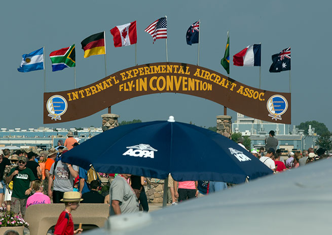 AOPA had a prime location at AirVenture 2014.