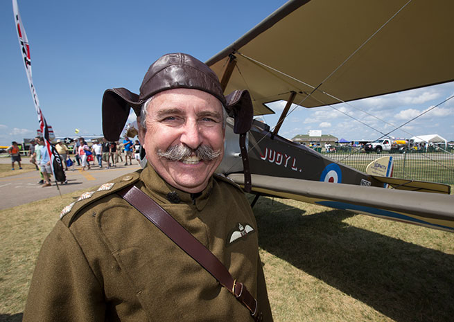 Glenn Burt and his Sopwith Camel at EAA AirVenture.