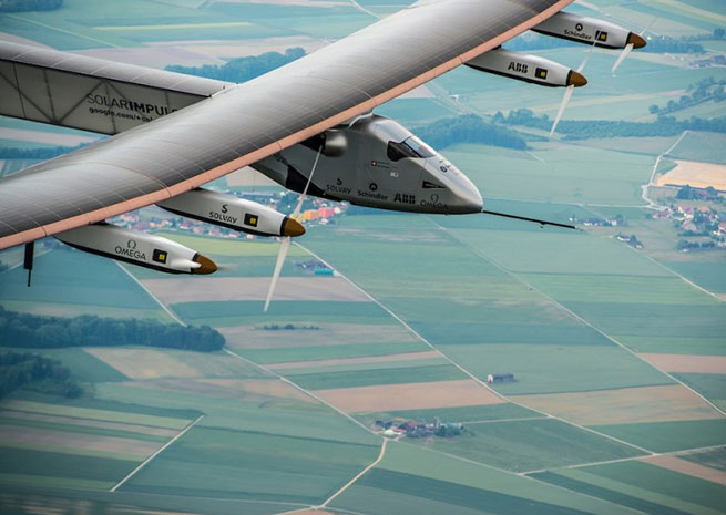 Solar Impulse 2 made a two-hour maiden flight over Switzerland June 2. Photo courtesy of Solar Impulse.