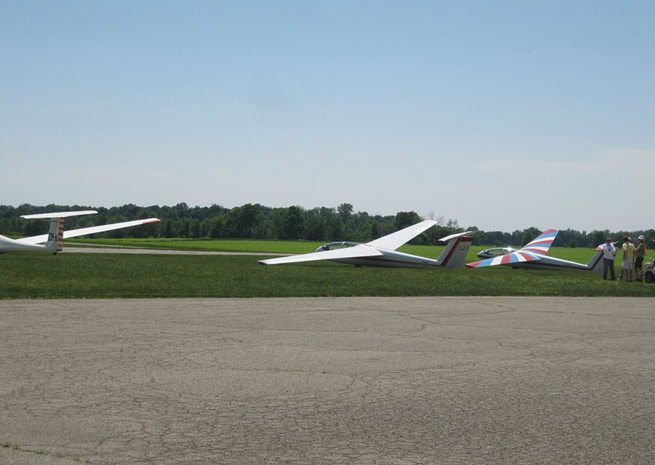 Gliders at Alexandria Airport in Indiana.