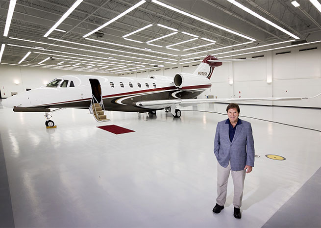 Gerry Buchheit of Orchard Park, N.Y. was the first customer to take delivery of the Citation X+. Cessna Aircraft Co. photo.