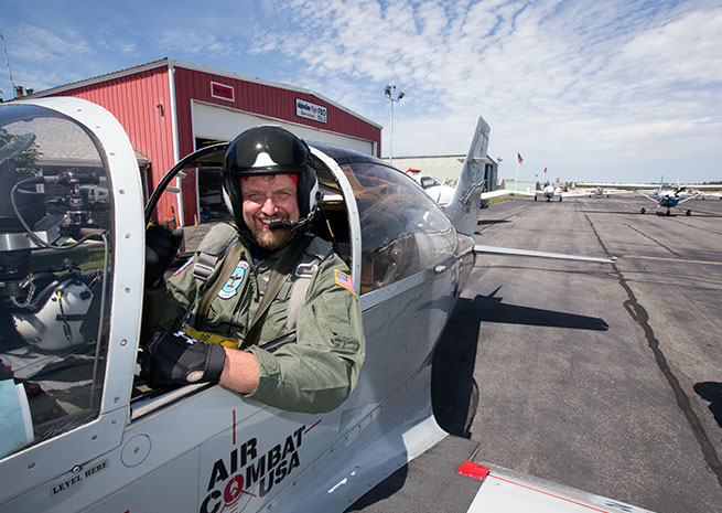 "Jim ""Buffet"" Moore, fighter pilot for a day."