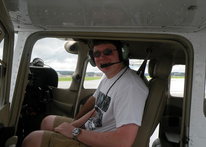 Davis is among the students in a small after-school aviation class at the Montoursville, Pa., high school.