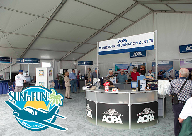 AOPA will expand its presence at Sun 'n Fun in 2014.