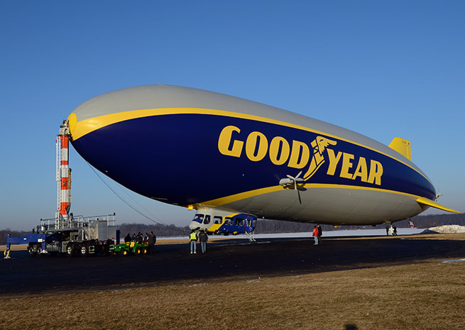 The new Goodyear 'Blimp' is actually an airship. Photo courtesy of Goodyear Tire and Rubber Co.