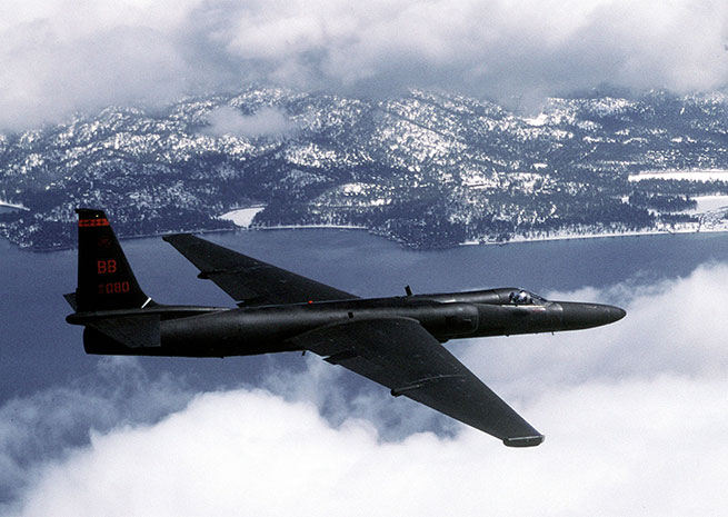 A U-2 Dragon Lady flies a training mission. U.S. Air Force file photo by Master Sgt. Rose Reynolds.